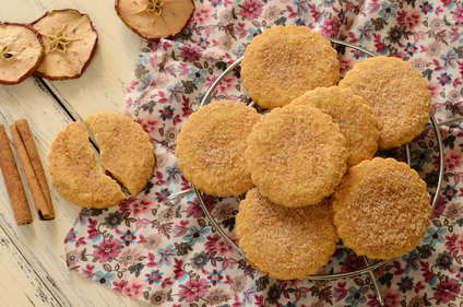 Spiced apple biscuits