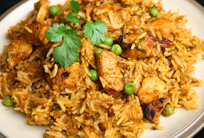 Quick chicken biryani