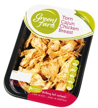 Cajun chicken salad with oriental dressing