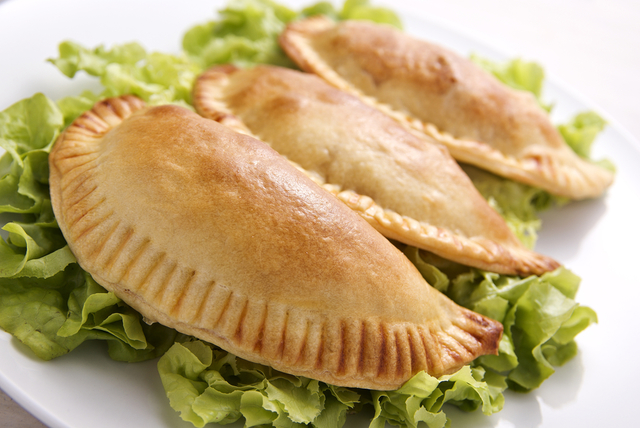 Chicken and pesto turnovers