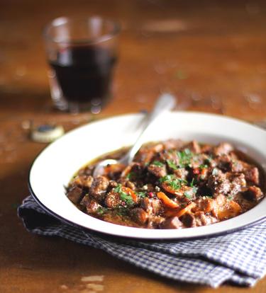 Lamb with lentils casserole