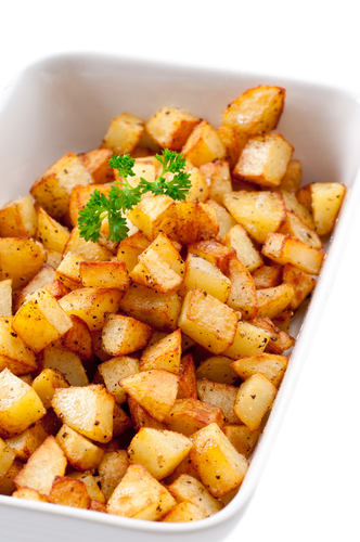 Crispy potato cubes