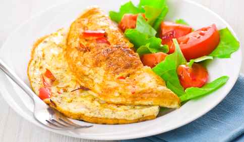 Simple fluffy omelette