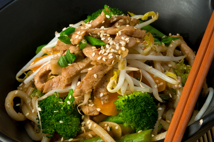 Shanghai style noodles and pork