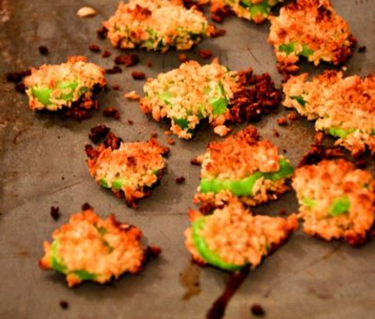 Baked broccoli chips