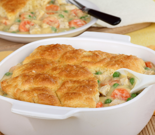 Simple chicken and vegetable pie