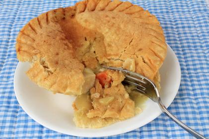 Homemade turkey pie