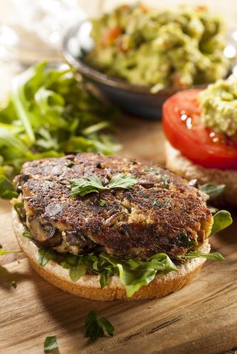Mushroom veggie burgers