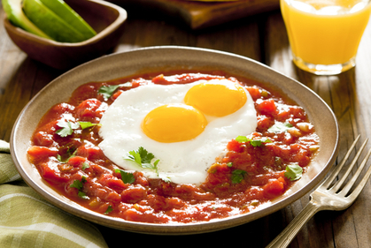 Mexican style breakfast
