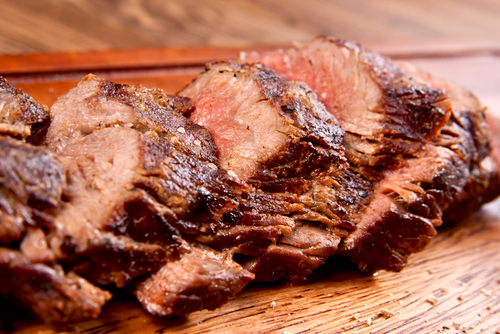 Beef with ginger marinade