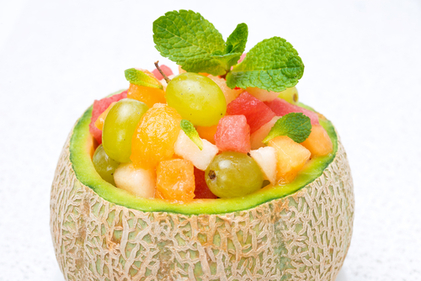 Sweet melon fruit bowl