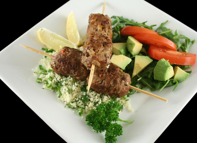 Beef Koftas with garden salad
