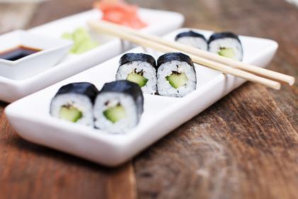 Avocado sushi rolls