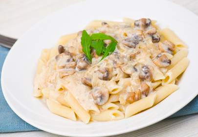 Pasta with a mushroom sauce