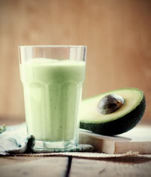 Milky avocado juice
