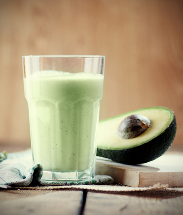 Milky avocado juice