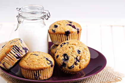 Blueberry yoghurt muffin