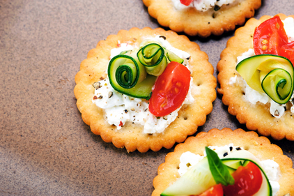 Crackers and cheese with a twist