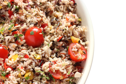 Wild rice and cherry tomato salad
