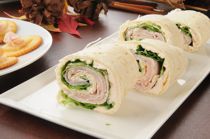 Mini turkey wraps