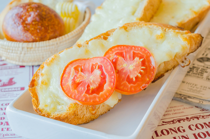 Cheese and tomato melt