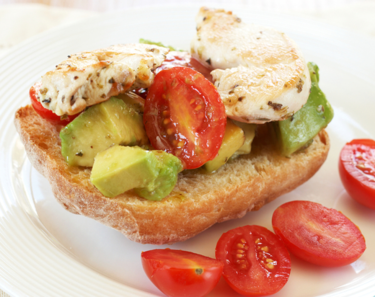 Chicken and avocado ciabattas
