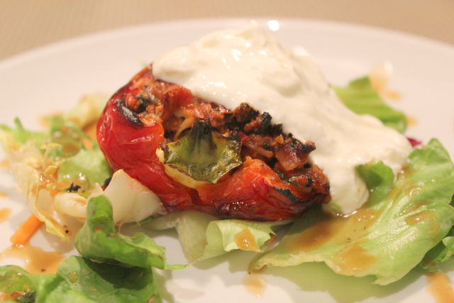 Lamb and rice stuffed peppers
