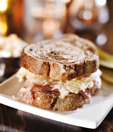 Homemade coleslaw & ham sandwich