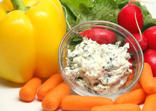 Feta, spinach dip
