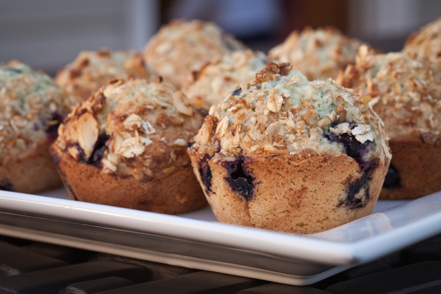 Berry  and oat muffins
