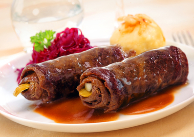 Beef roulade stuffed with vegetables