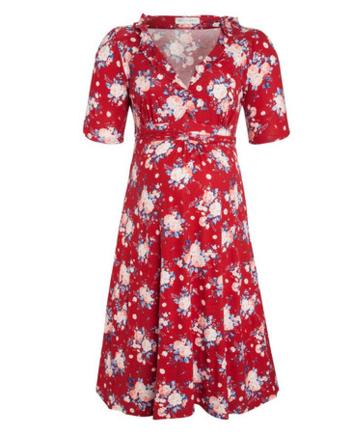 Bouquet print maternity dress