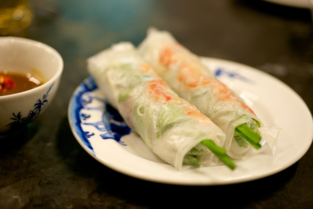 Vegetable  rice paper rolls