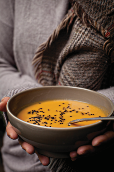 Lemongrass, coconut and sweet potato soup