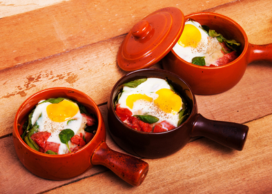 Baked eggs brunch