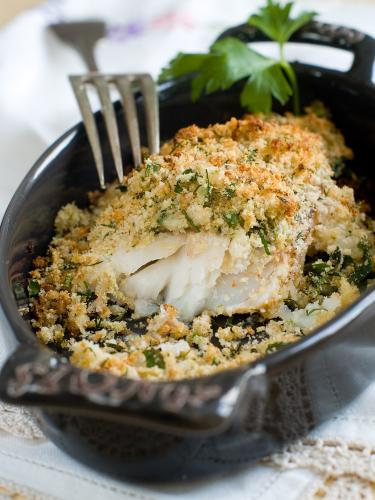 Haddock with herb crust