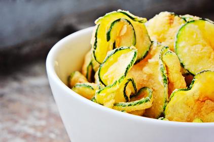 Courgette crisps