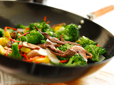 Chilli beef with broccoli