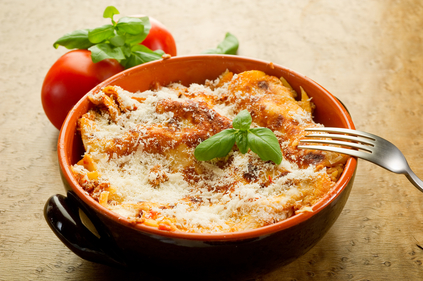 Bacon and cheese lasagne