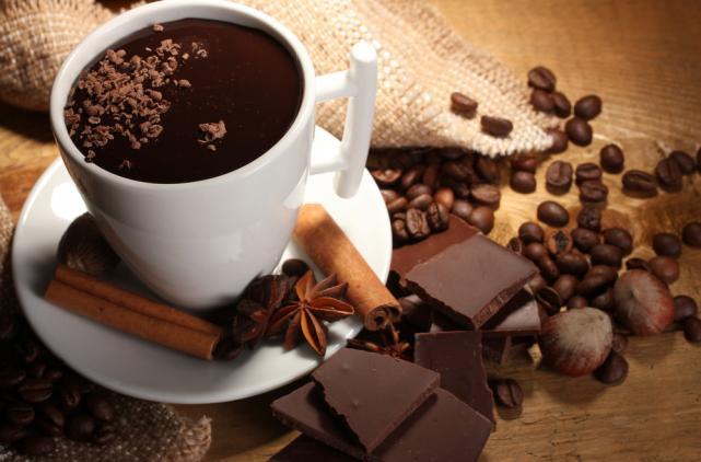 Chocolate coffee soup