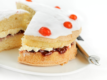 Cherry jam layer cake