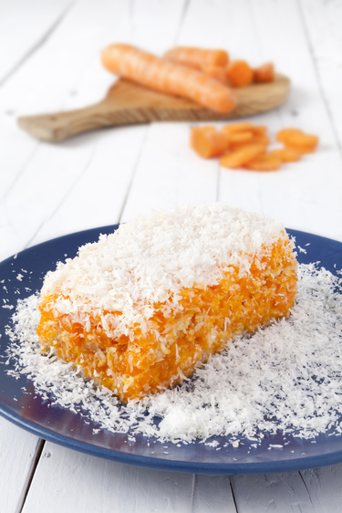 Coconut carrot slices
