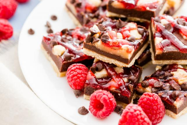 Berry and white chocolate tray