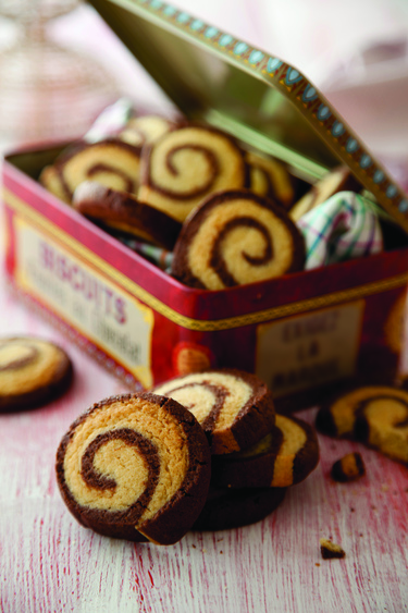 Chocolate swirl biscuits
