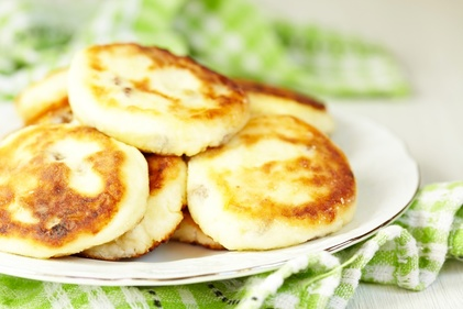 Cheesy pikelet with sweetcorn