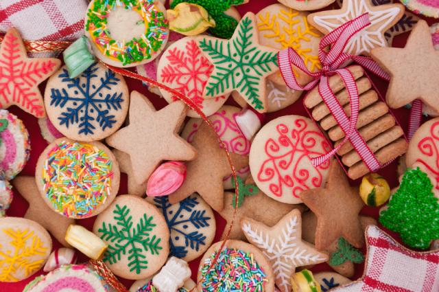 Christmas gingerbread baubles