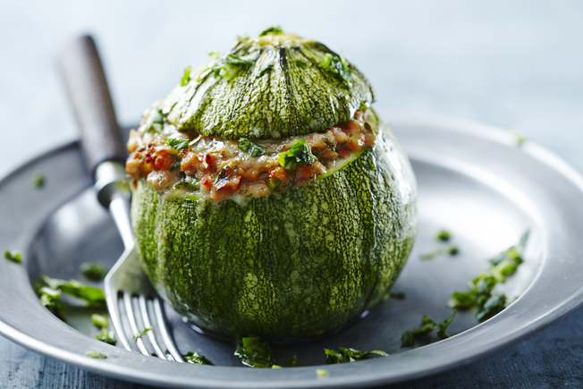 Stuffed courgettes