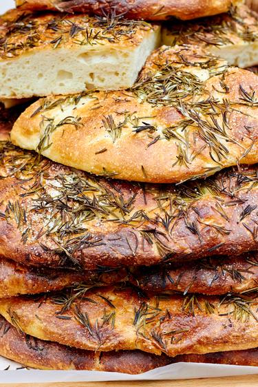 Gluten-free rosemary flatbreads