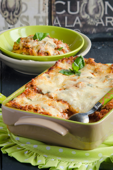 Lentil and vegetable lasagne