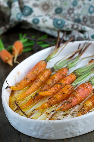 Roast citrus carrots